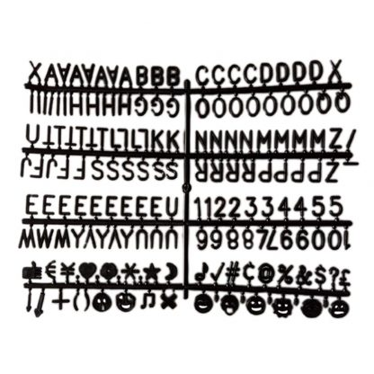 """SALE Felt Letter Board Letters - 1""""   300 Count Extra Set Of Letterboards Letters, Numbers, Symbols & Emojis (Black In Color) - Laura Baby and Company"""