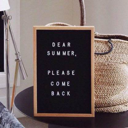 SALE 12x18 Felt Letter Board Oak Frame Letterboards Grey Black White Felt Letter Board with 340 White Letters, Characters, Emojis Felt Message Board 12x18 Felt Sign - Laura Baby and Company